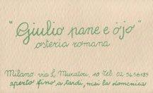 Osteria Giulio Pane e Ojo